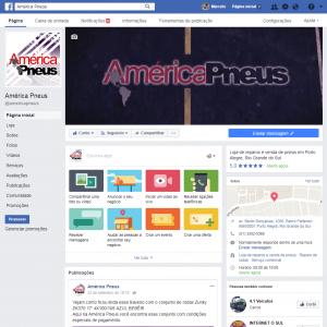 <b>América Pneus</b><br>Gestão de Facebook com produção de conteúdo, fotos, vídeos com animação, cards, promoções