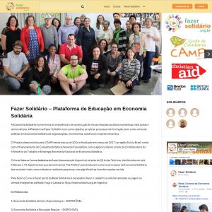 <b>Videoaulas da plataforma Fazer Solidário</b><br>Produção das videoaulas para a plataforma de Economia Solidária do CAMP